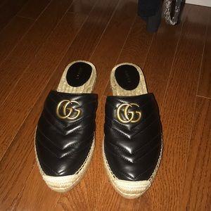 Gucci slip on espadrilles